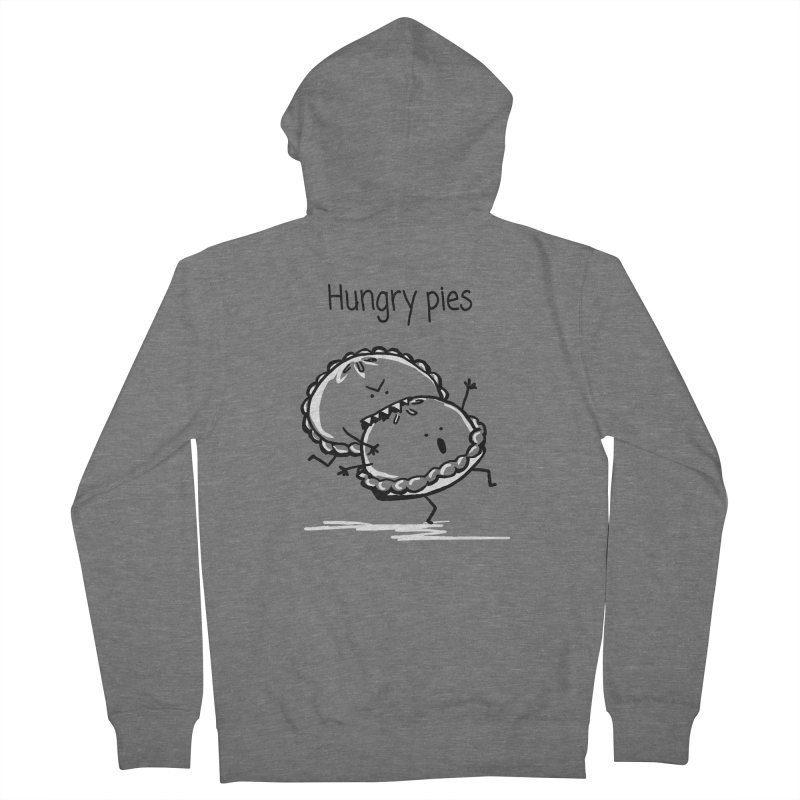 Hungry pies Men's French Terry Zip-Up Hoody by 1 OF MANY LAURENS