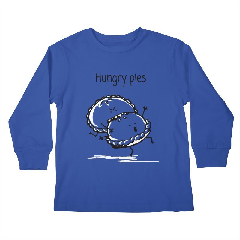 Hungry pies Kids Longsleeve T-Shirt by 1 OF MANY LAURENS