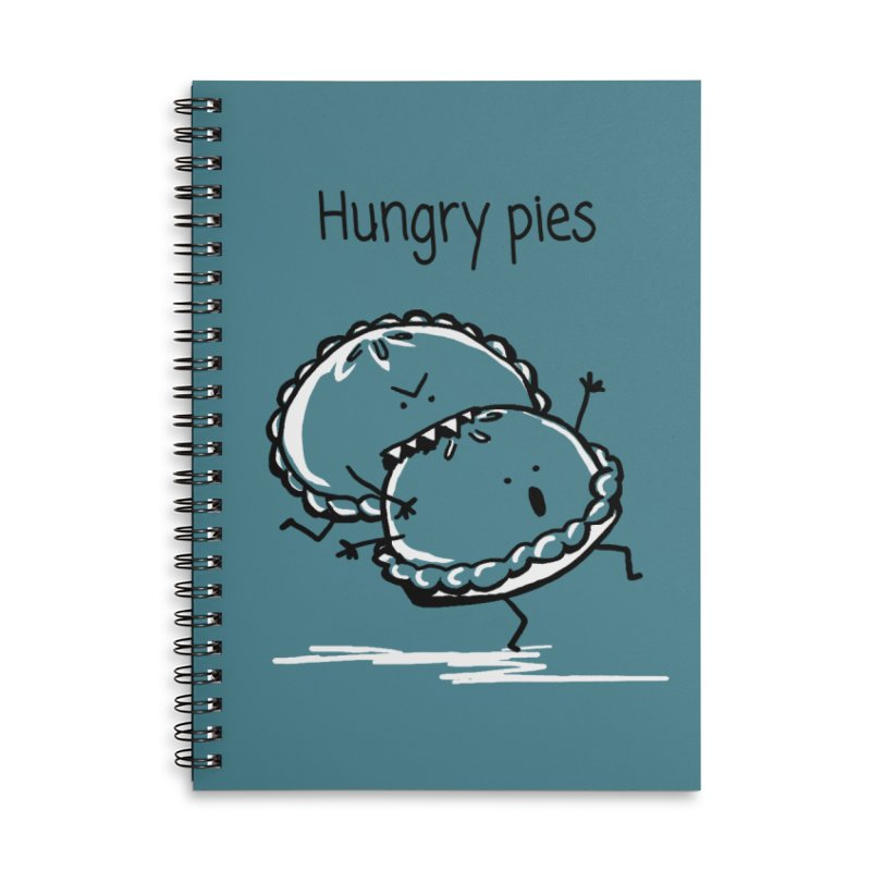 Hungry pies Accessories Lined Spiral Notebook by 1 OF MANY LAURENS