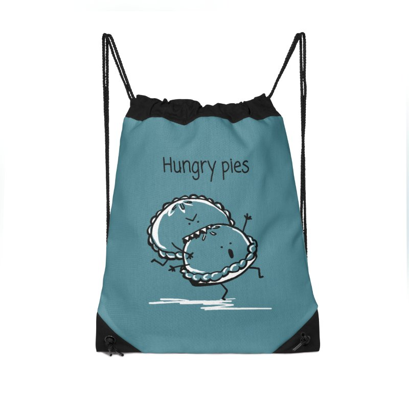 Hungry pies Accessories Drawstring Bag Bag by 1 OF MANY LAURENS