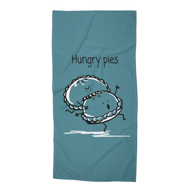 Hungry pies Accessories Beach Towel by 1 OF MANY LAURENS