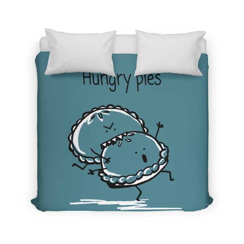 Hungry pies Home Duvet by 1 OF MANY LAURENS