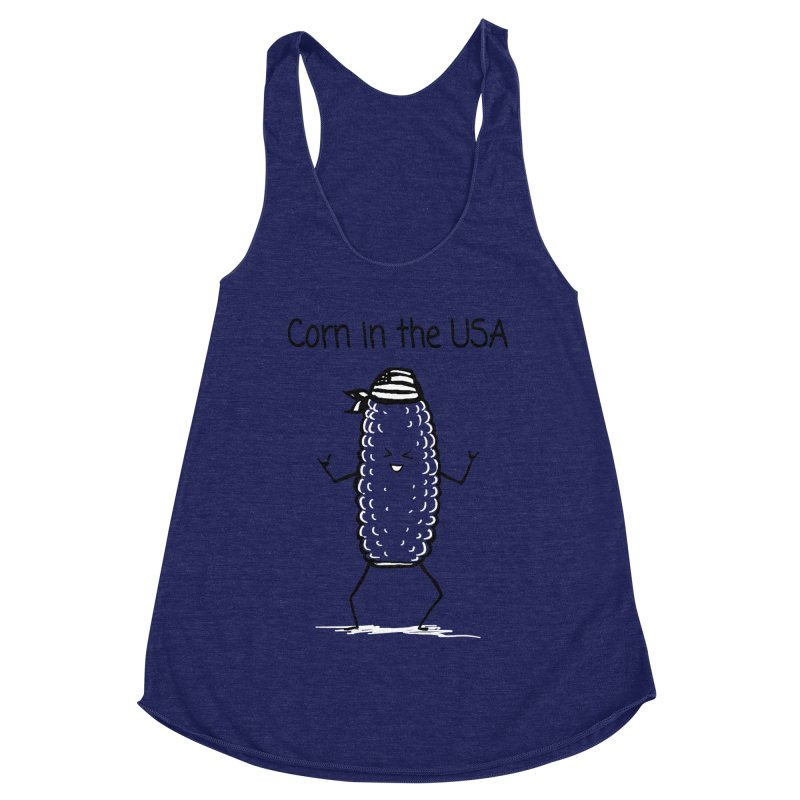 Corn in the USA Women's Racerback Triblend Tank by 1 OF MANY LAURENS