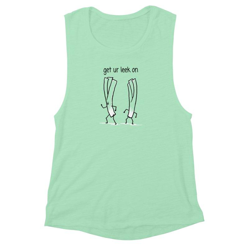 get ur leek on Women's Muscle Tank by 1 OF MANY LAURENS