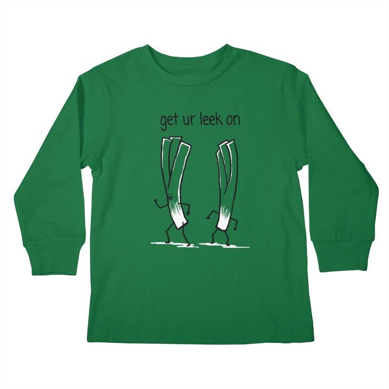 get ur leek on Kids Longsleeve T-Shirt by 1 OF MANY LAURENS