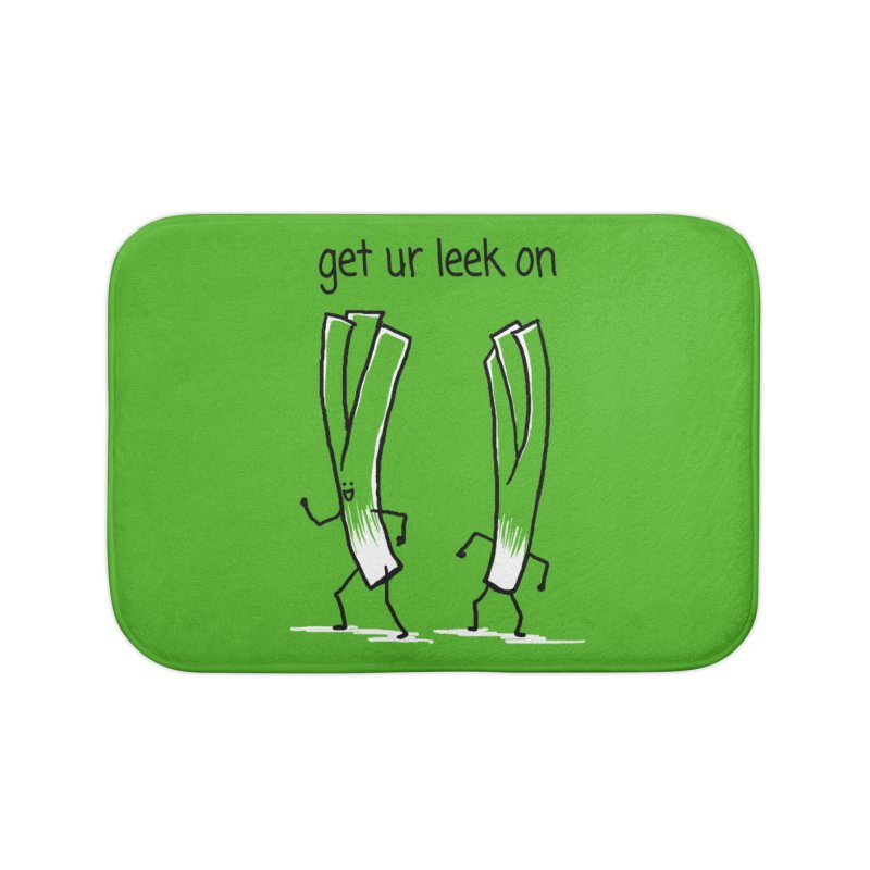 get ur leek on Home Bath Mat by 1 OF MANY LAURENS