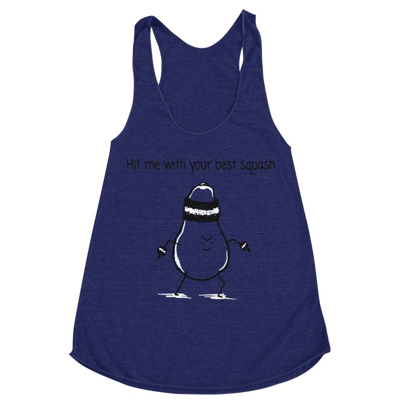 Hit me with your best squash Women's Racerback Triblend Tank by 1 OF MANY LAURENS