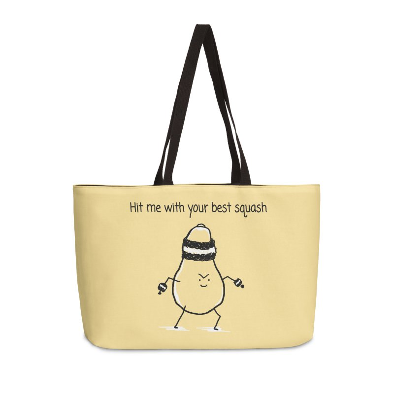 Hit me with your best squash Accessories Weekender Bag Bag by 1 OF MANY LAURENS