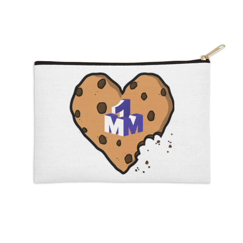 1mm Cookie Heart Accessories Zip Pouch by 1madmamma's Shop