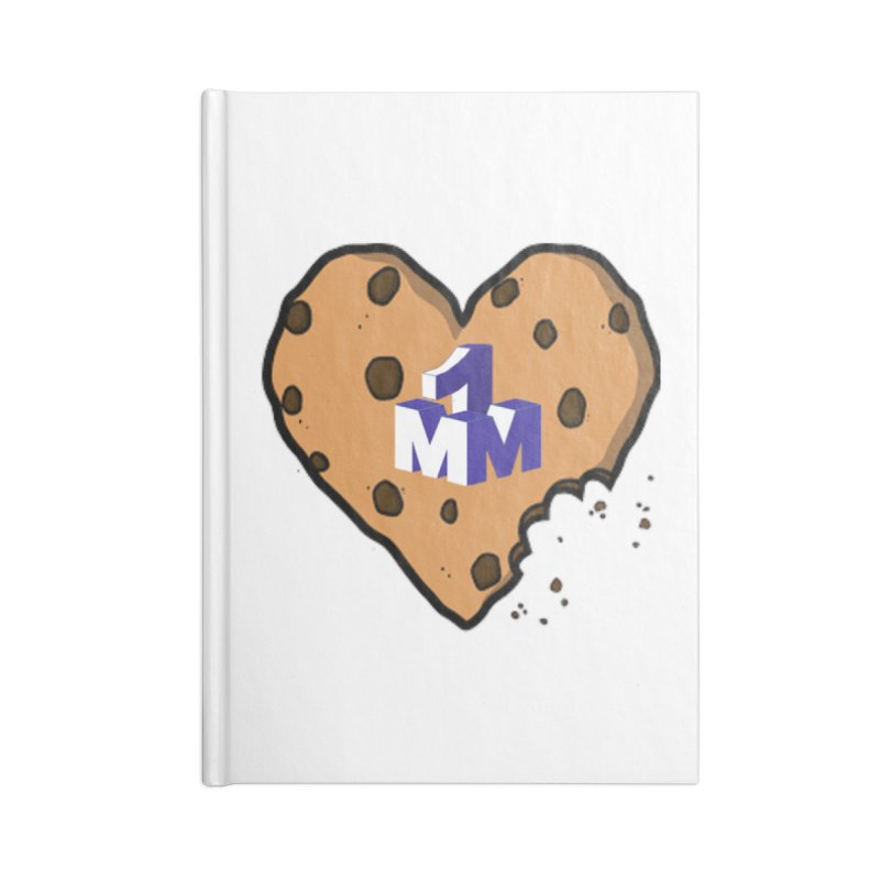 1mm Cookie Heart Accessories Lined Journal Notebook by 1madmamma's Shop