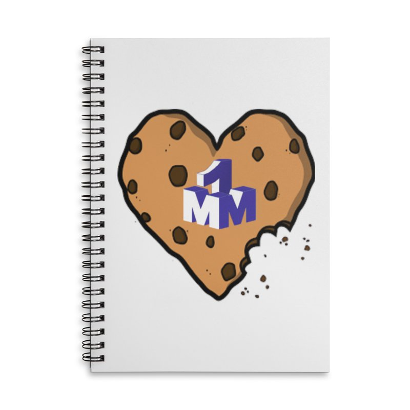 1mm Cookie Heart Accessories Lined Spiral Notebook by 1madmamma's Shop