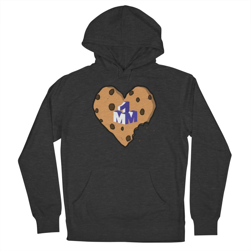 1mm Cookie Heart Men's French Terry Pullover Hoody by 1madmamma's Shop