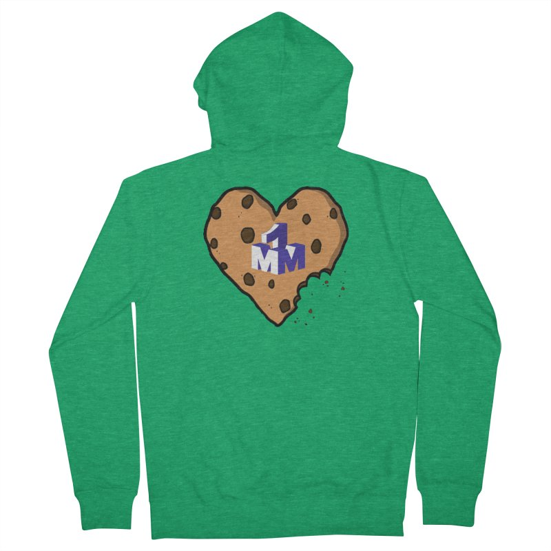 1mm Cookie Heart Women's French Terry Zip-Up Hoody by 1madmamma's Shop