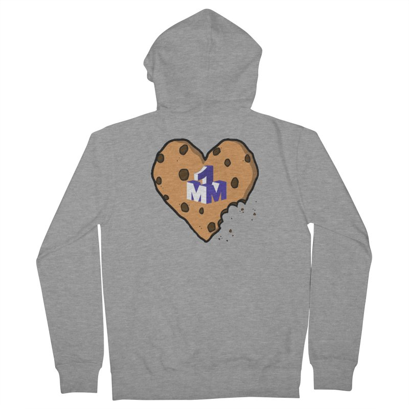 1mm Cookie Heart Men's French Terry Zip-Up Hoody by 1madmamma's Shop