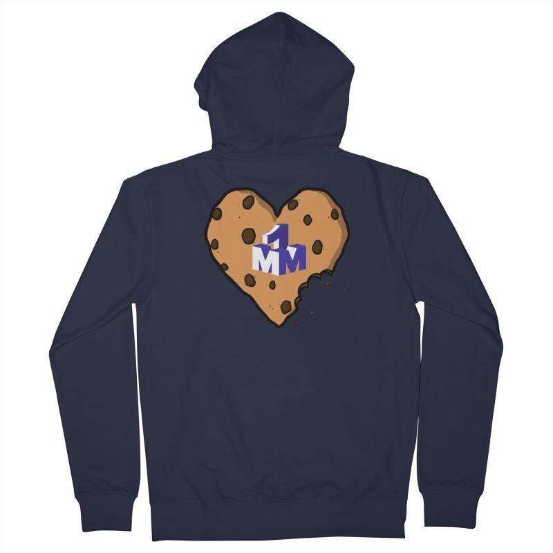 1mm Cookie Heart Men's Zip-Up Hoody by 1madmamma's Shop