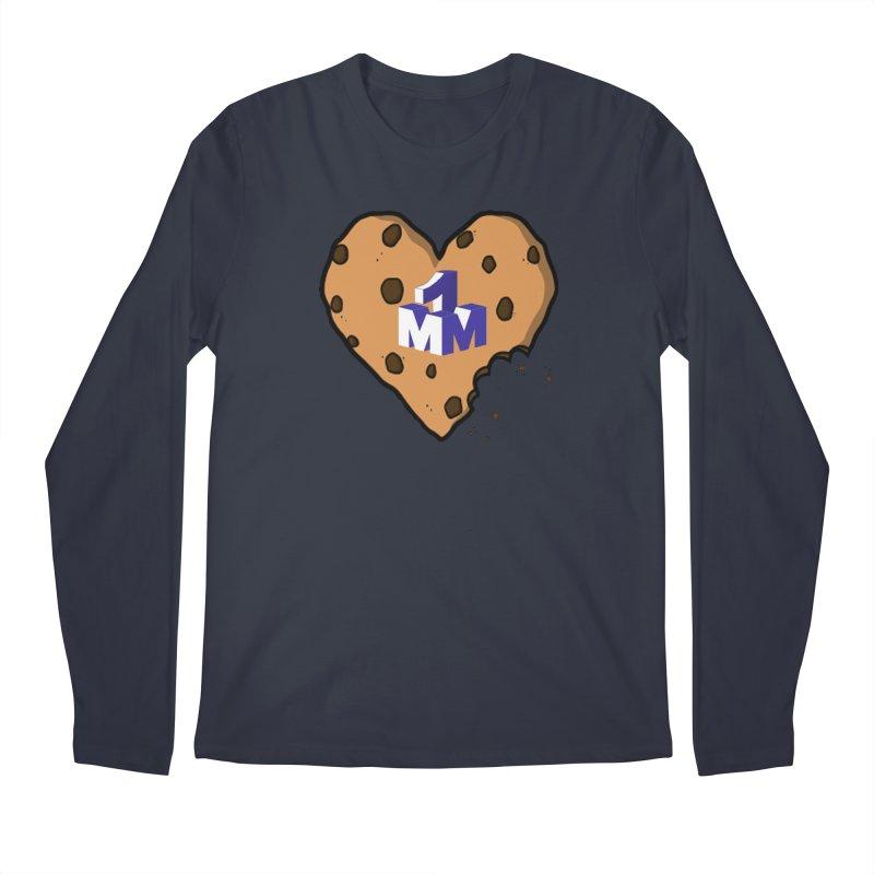 1mm Cookie Heart Men's Longsleeve T-Shirt by 1madmamma's Shop