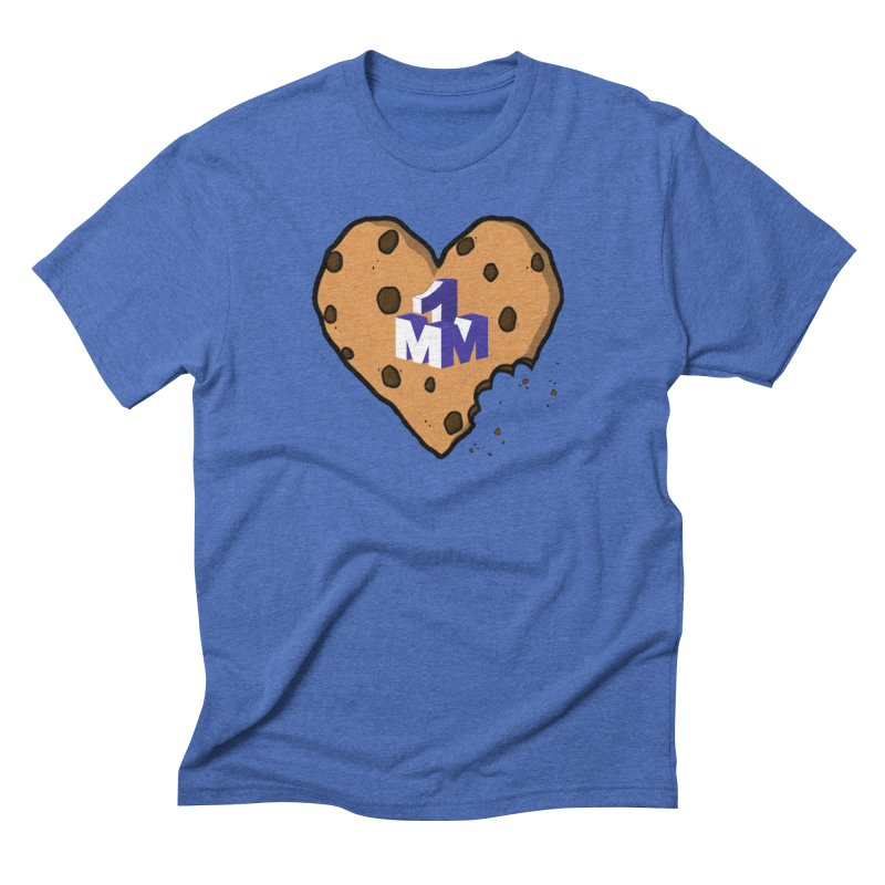 1mm Cookie Heart Men's Triblend T-Shirt by 1madmamma's Shop
