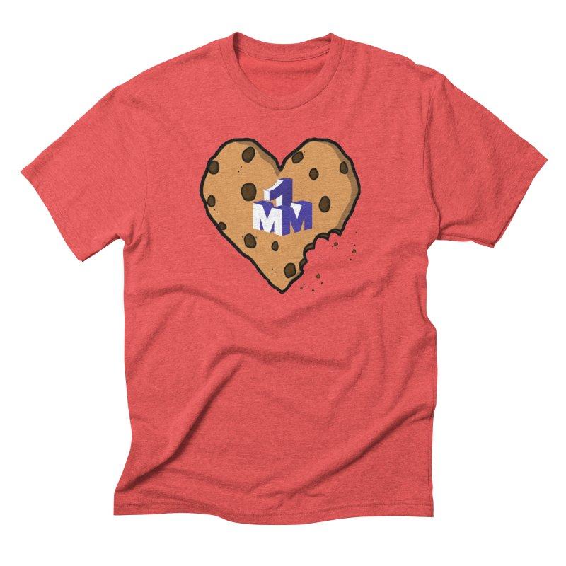 1mm Cookie Heart Men's Triblend T-Shirt by 1madmamma's Shop