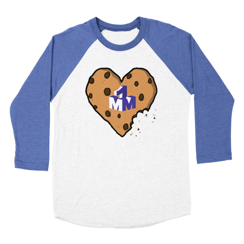1mm Cookie Heart Women's Baseball Triblend Longsleeve T-Shirt by 1madmamma's Shop