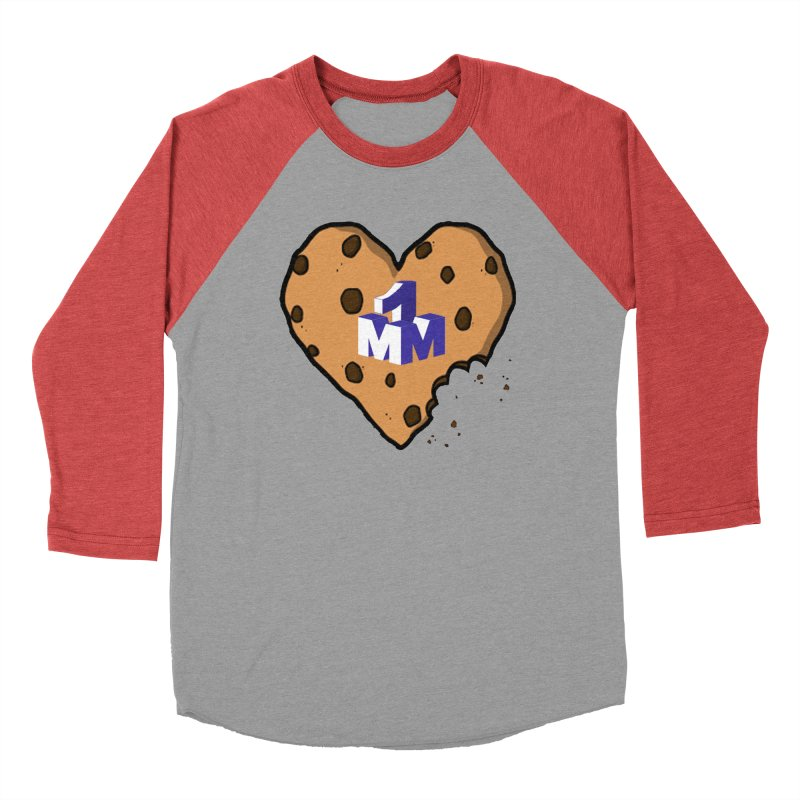 1mm Cookie Heart Women's Baseball Triblend T-Shirt by 1madmamma's Shop
