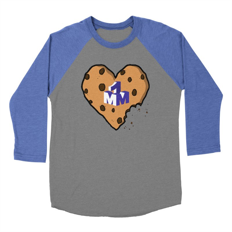 1mm Cookie Heart Men's Baseball Triblend T-Shirt by 1madmamma's Shop