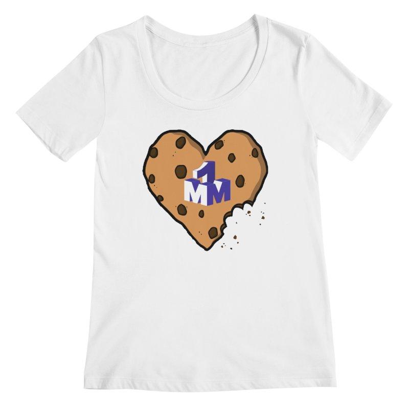 1mm Cookie Heart Women's Regular Scoop Neck by 1madmamma's Shop