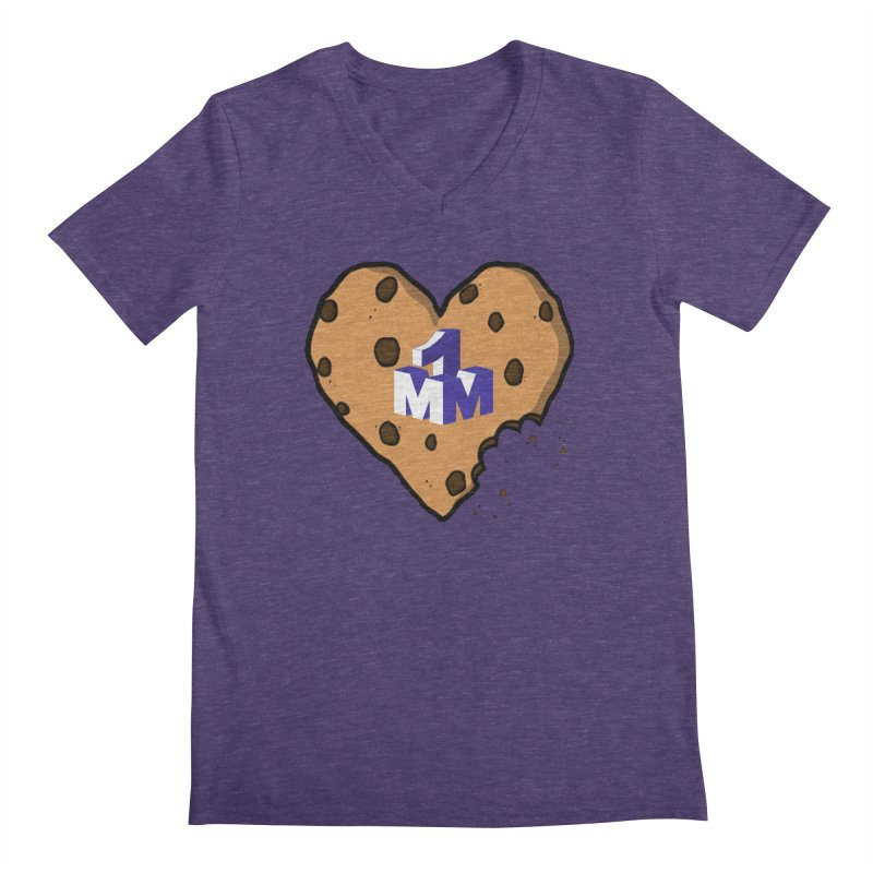 1mm Cookie Heart Men's Regular V-Neck by 1madmamma's Shop