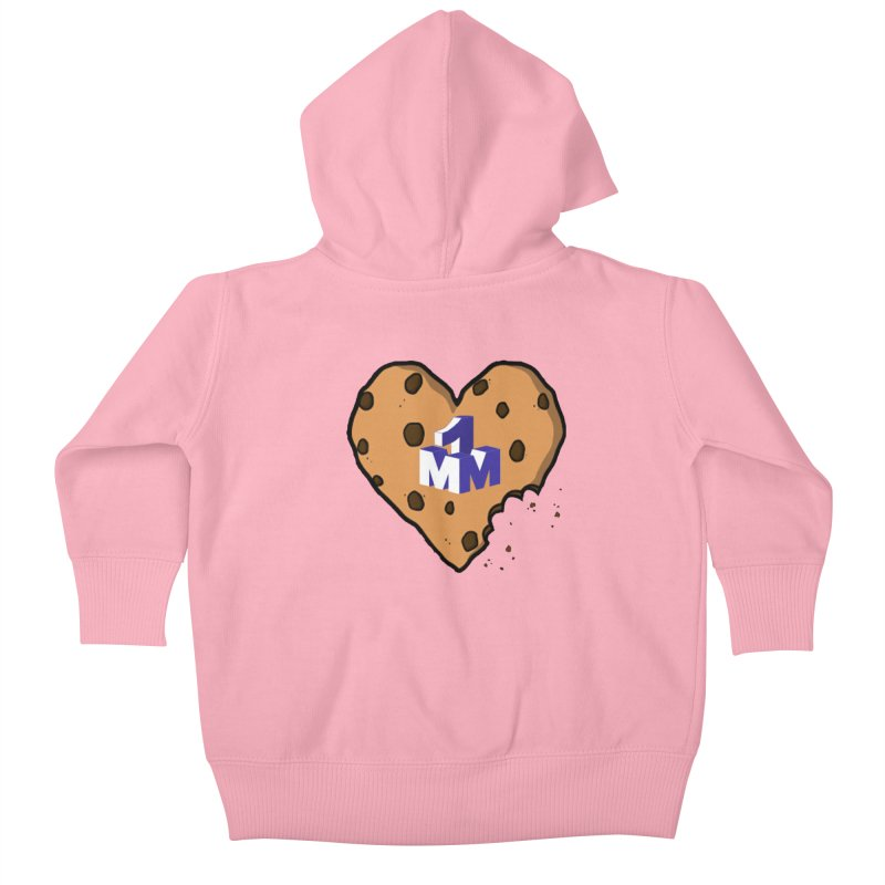 1mm Cookie Heart Kids Baby Zip-Up Hoody by 1madmamma's Shop