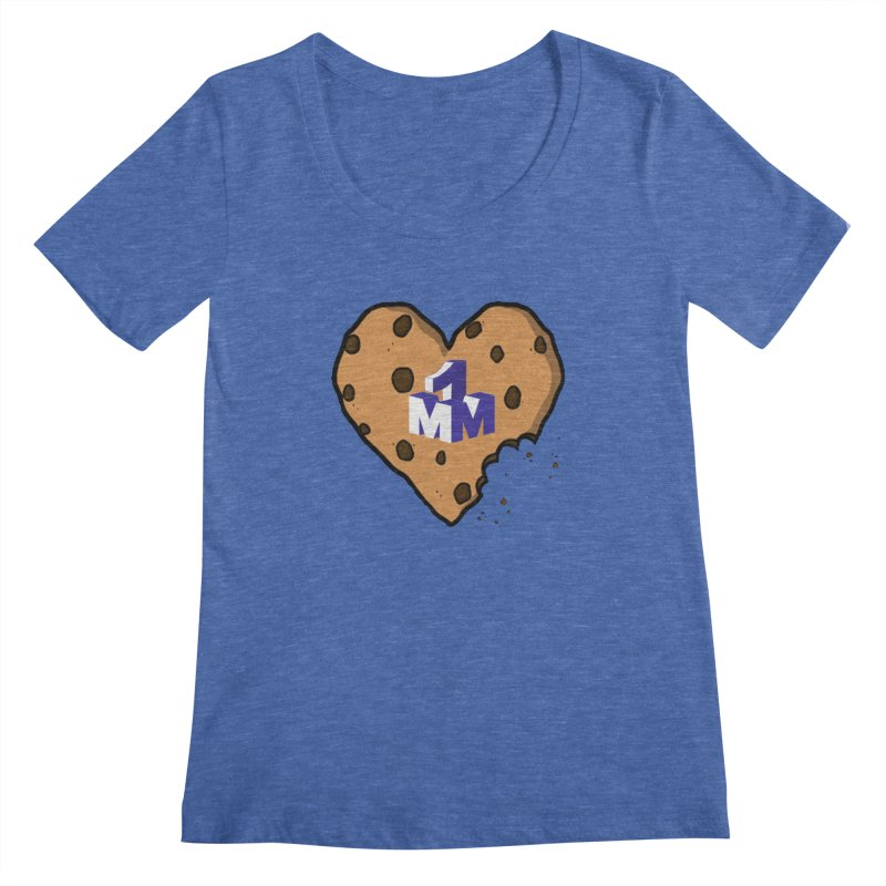 1mm Cookie Heart Women's Scoopneck by 1madmamma's Shop
