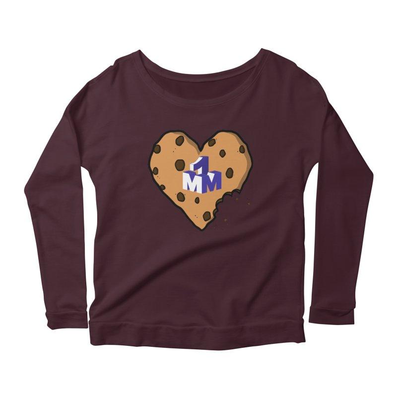 1mm Cookie Heart Women's Longsleeve Scoopneck  by 1madmamma's Shop