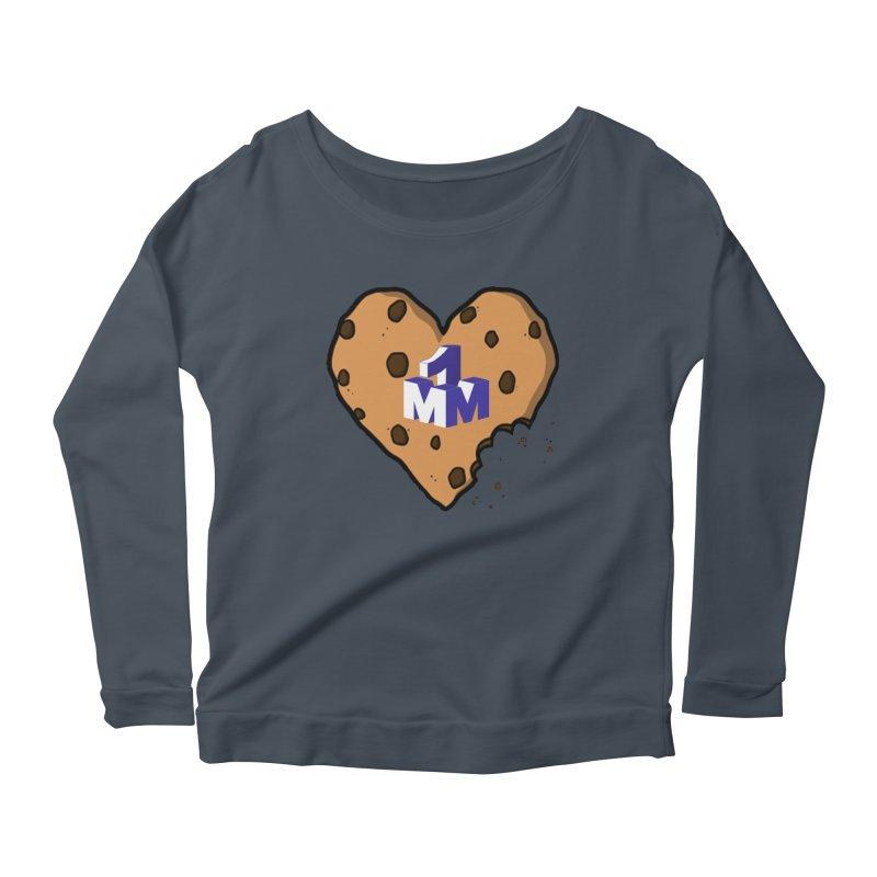 1mm Cookie Heart Women's Scoop Neck Longsleeve T-Shirt by 1madmamma's Shop