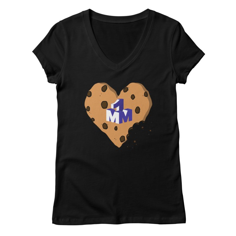 1mm Cookie Heart Women's V-Neck by 1madmamma's Shop