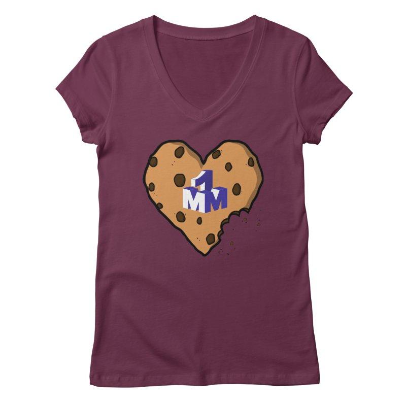 1mm Cookie Heart Women's V-Neck by 1madmamma's Shop