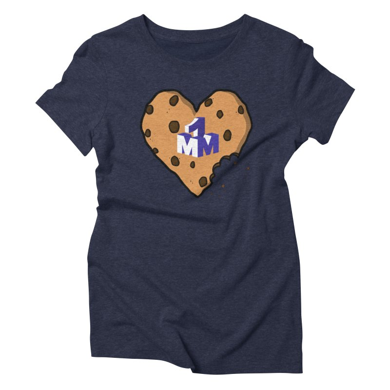 1mm Cookie Heart Women's Triblend T-Shirt by 1madmamma's Shop