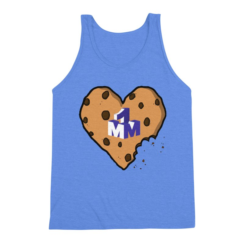 1mm Cookie Heart Men's Triblend Tank by 1madmamma's Shop