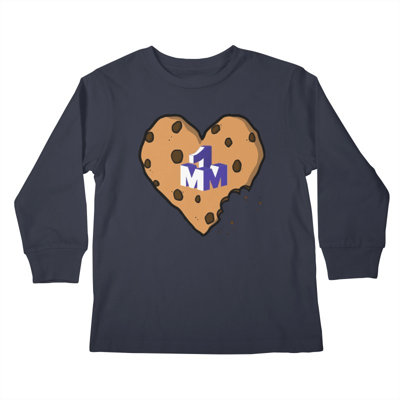 1mm Cookie Heart Kids Longsleeve T-Shirt by 1madmamma's Shop