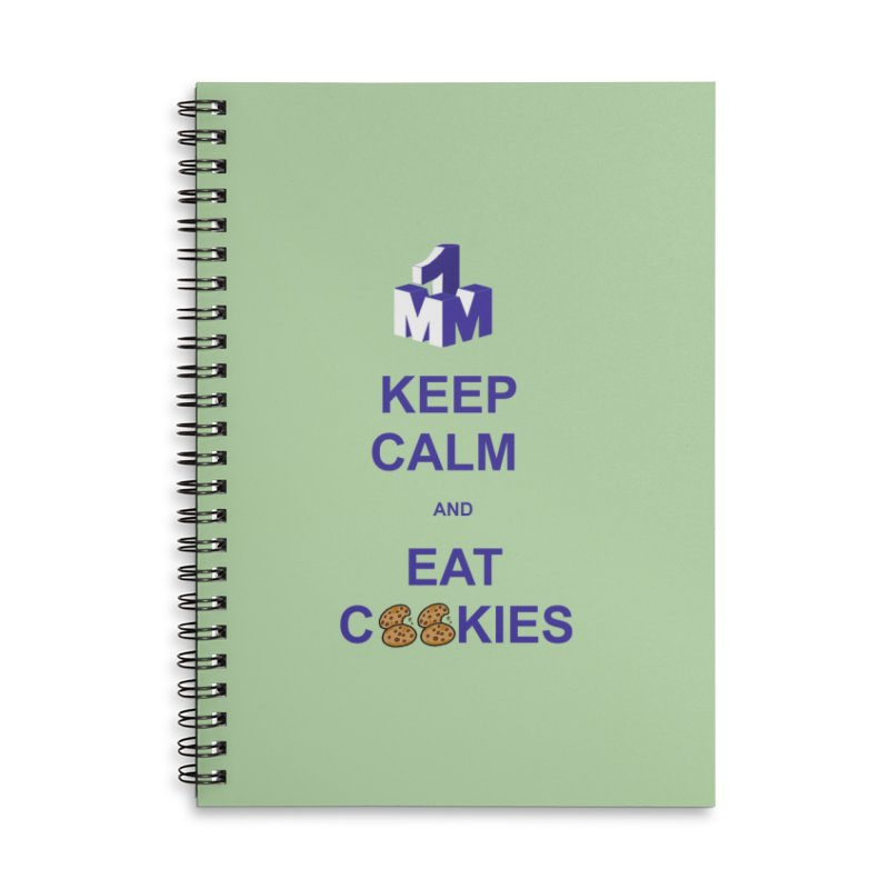 Keep Calm Accessories Lined Spiral Notebook by 1madmamma's Shop