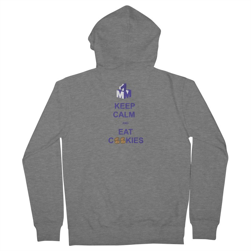 Keep Calm Women's French Terry Zip-Up Hoody by 1madmamma's Shop