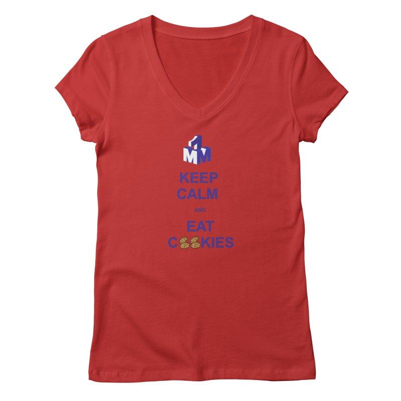 Keep Calm Women's Regular V-Neck by 1madmamma's Shop