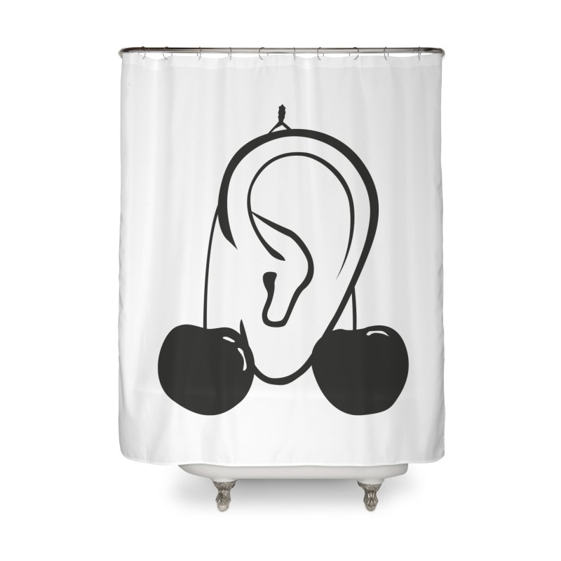 Cherries Home Shower Curtain by 1tinta