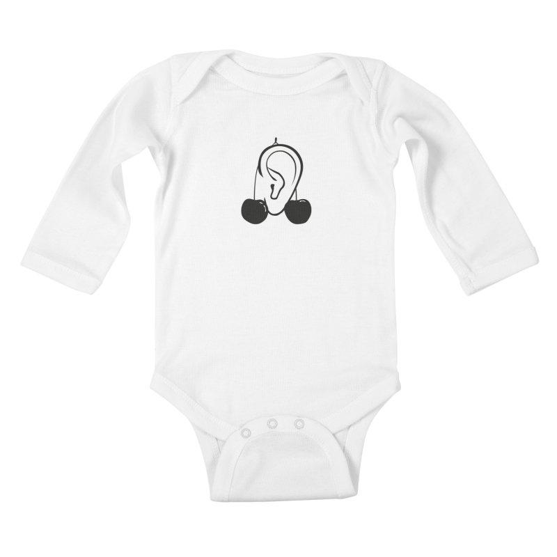 Cherries Kids Baby Longsleeve Bodysuit by 1tinta