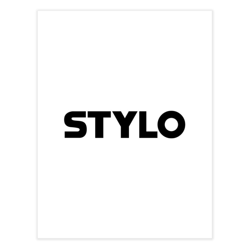 STYLO Home Fine Art Print by 1tinta