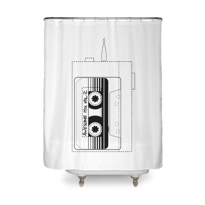 Awesome Mix Vol.2 Home Shower Curtain by 1tinta