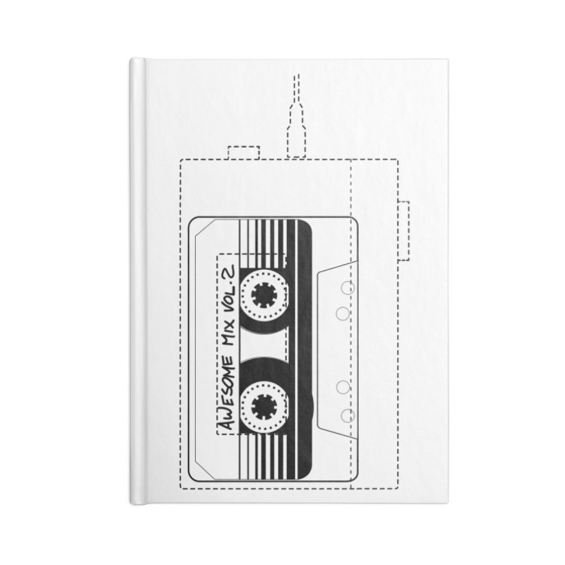Awesome Mix Vol.2 Accessories Blank Journal Notebook by 1tinta