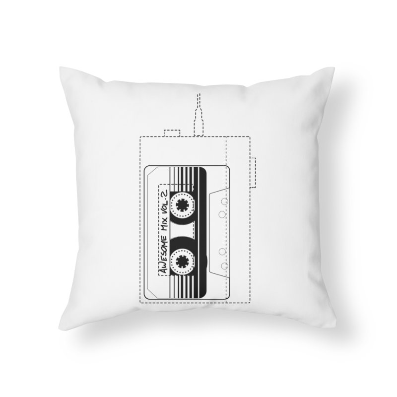 Awesome Mix Vol.2 Home Throw Pillow by 1tinta