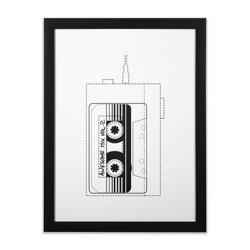 Awesome Mix Vol.2 Home Framed Fine Art Print by 1tinta