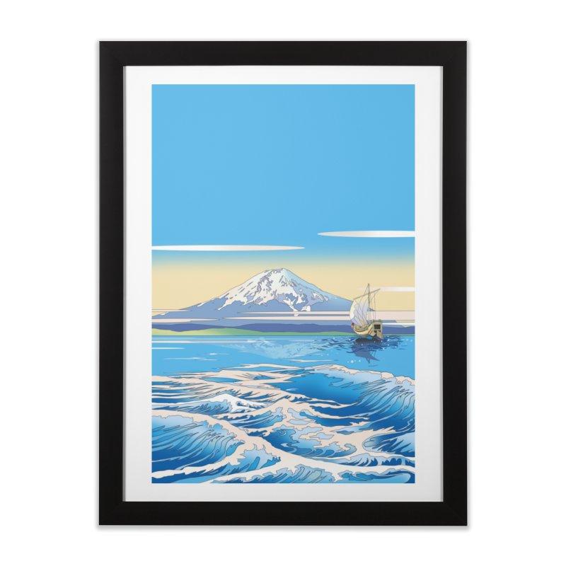 帰還 Home Framed Fine Art Print by Kawano Art Shop
