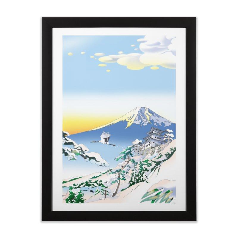 雪の城 Home Framed Fine Art Print by Kawano Art Shop