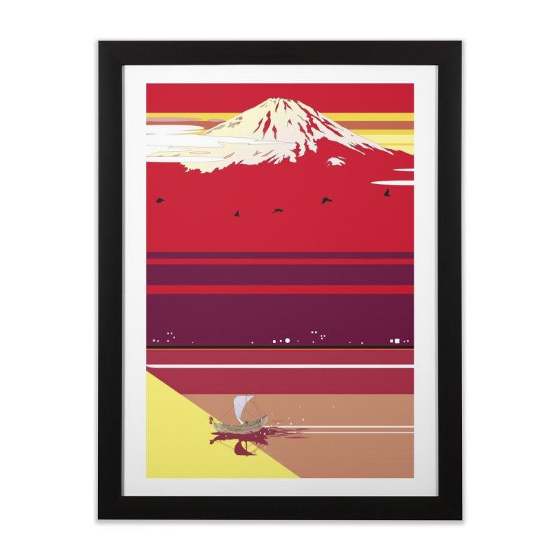 夕陽の富士山 Home Framed Fine Art Print by Kawano Art Shop