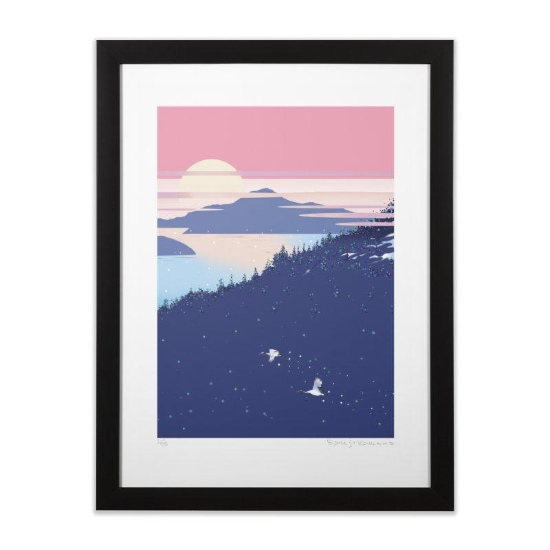 静かなる春の海 Home Framed Fine Art Print by Kawano Art Shop
